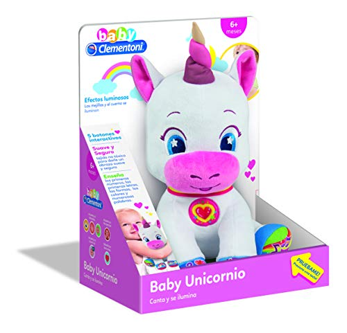 Clementoni- Baby Unicornio,, Talla (552627)