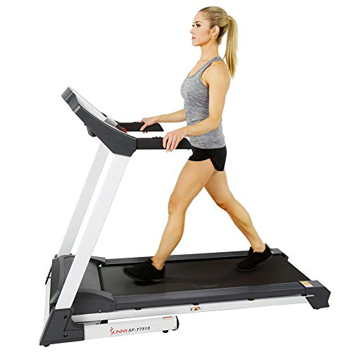 Sunny Health & Fitness SF-T7515 Smart Treadmill with Auto Incline, Sound System, Bluetooth and Phone Function 5