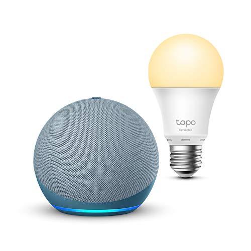 Echo Dot (4.ª generación), Azul grisáceo + TP-Link Tapo...
