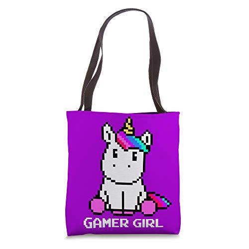 Cute Unicorn Gaming Video Games Character Gamer Girl Gift Tote Bag
