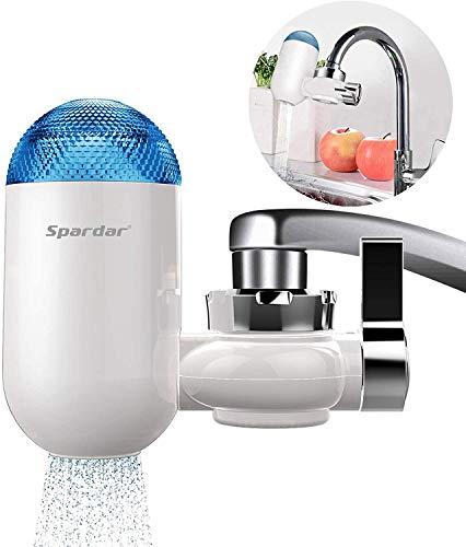 Spardar Filtro de Grifo Agua Purificador de Agua del Grifo Sistema de Filtracion para Agua Dura Fácil de Instalar Elimina el Fluoruro de Plomo de Cloro y Otras Impurezas Irritantes