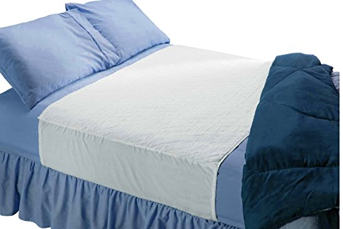 Soft Large Absorbent Waterproof Bed Pad with Tuckable Sides (36 x 60 Inch) - Washable 300x for XL Tuck in Underpad Incontinence Protection for Adult, Child, or Pet