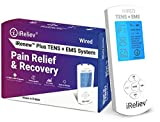 TENS Unit + EMS Muscle Stimulator by iReliev: Comes with 14 Therapy Modes, Premium Pain Relief and Recovery System, Rechargeable, Large Back Lit Display, Large and Small Electrode Pads