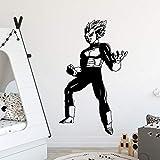 Dibujos animados clásicos Anime personaje de película Dragon Ball Superhéroe Super Saiyan lindo Goku Vegeta Naruto calcomanía niños habitación decoración del hogar pegatina de pared