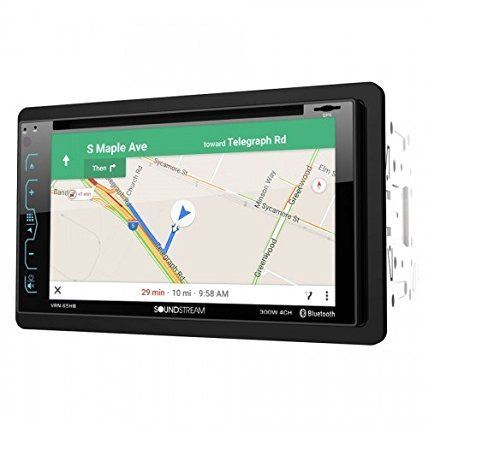 Soundstream VRN-65HB 2-DIN GPS/DVD/CD/MP3/AM/FM Receiver with 6.2' LCD/ Bluetooth/MobileLink X2,Black