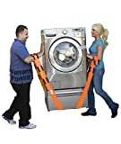 Forearm Forklift L74995CN Lifting and Moving Straps for Furniture, Appliances, Mattresses or Heavy Objects 800 Pounds 2-Person, 9'4' Long X 3' Wide, Orange, 2 Count
