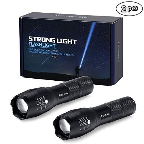 flintronic Lampe Torche, 2PCS Tactique LED Lampe de Poche, 5 Modes étanche...