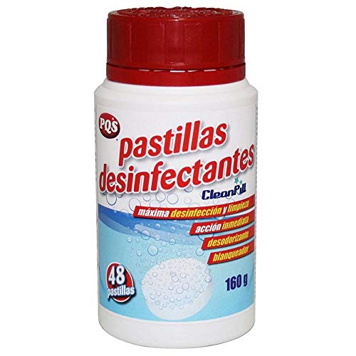 PQS Desinfectante Fungicida Virucida, 48 pastillas Cloradas