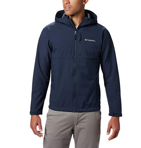 Columbia Men's Ascender Hooded Softshell Jacket, Collegiate Navy, Medium