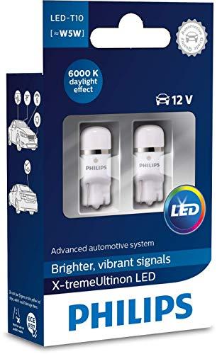 Philips automotive lighting 127996000KX2 X-tremeUltinon LED Luce per abitacolo W5W T10 6000K 12V, 2 Pezzi, 6000 Kelvin, Set di 2