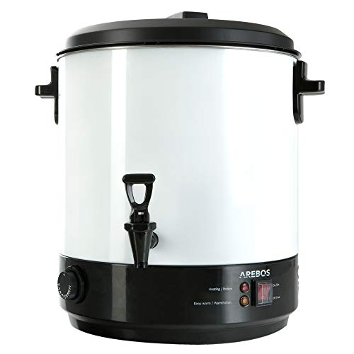 Système de mise en conserve d'Arebos pour boissons chaudes et pour la conservation des fruits de 28 L et de 2500 W avec inclus thermostat et marmite pour la mise en conserve et support de bocaux
