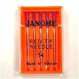 Janome 5 Pk Embroidery Sewing Machine Needles Red Tip Size 14 (90/14)