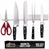 Gorilla Grip Premium Magnetic Knife Strip, Rust Resistant Stainless Steel, Organize, Store Knives on Magnet Bar Securely, Easy Install Wall Mounted 14 Inch Bar Holder, Kitchen and Workspace Versatile