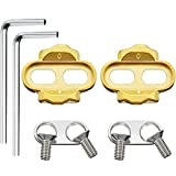 2 Pieces Bike Cleats Bicycle Cleats Pedal Cleats and 2 Pieces Hexagonal Wrench for Eggbeater, Candy, Smarty, Mallet Pedals