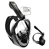 BENETA Snorkel Mask Full Face Snorkel Mask 180° Panoramic Views Snorkeling Mask with Detachable Camera Mount, Independent Exhaust Valve Anti-Leak and Anti-Fog, Snorkeling Gear for Adults