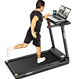 FUNMILY Treadmill for Home AM00919, Folding Treadmills for Running Walking Jogging Workout, Portable Electric Treadmill Machine with Desk and Bluetooth Speaker, 265 LBS Weight Capacity