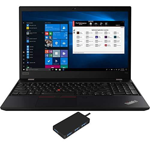 Lenovo ThinkPad P53s Laptop (Intel i7-8565U 4-Core, 16GB RAM, 512GB PCIe SSD, Quadro P520, 15.6' Full HD (1920x1080), Fingerprint, WiFi, Bluetooth, Webcam, Win 10 Pro) with USB3.0 Hub