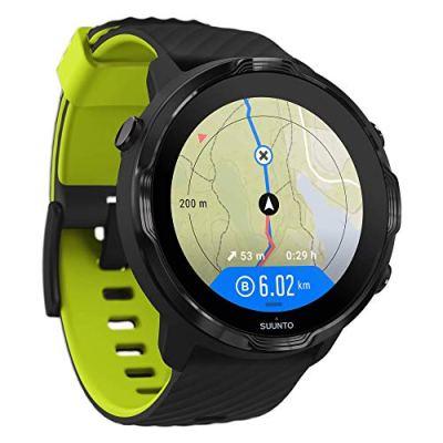 Suunto 7 GPS Sports Smart Watch, Black Lime