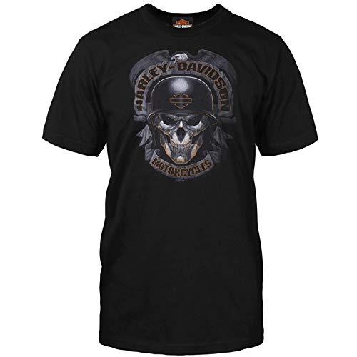 ハーレーダビッドソン ミリタリー メンズ ブラック スカル グラフィック Tシャツ - バグダッド   Ghoulish US サイズ: Large カラー: ブラック