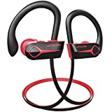 Letscom Bluetooth Headphones, 15Hrs Playtime Wireless 5.0 Earbuds IPX7 Waterproof Sport Running in-Ear Headsets w/Mic Stereo Sound Noise Cancelling