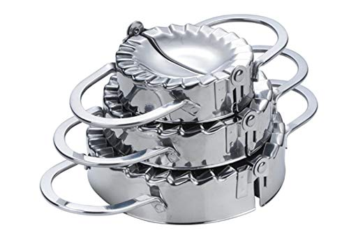 Ravioli Maker Set, FantasyDay 3 Pack Stainless Steel Pierogi Dumpling Maker Wrapper Pastry Dough Press Pie Empanada Press Mould Pastry Crimpers, Pelmeni Dumplings - Home Cooking Kitchen Accessories