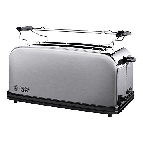 Russell Hobbs Toaster 2-Schlitz-Langschlitz Adventure, 2 extra breite Langschlitzkammern für 4 Toastscheiben, inkl. Brötchenaufsatz, 6 einstellbare Bräunungsstufen + Auftaufunktion, 1600W, 23610-56