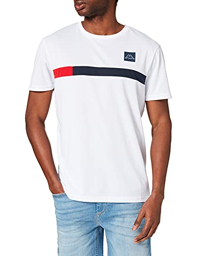 Kappa Imperio T-Shirt, Bianco/Blu/Rosso, M Uomo