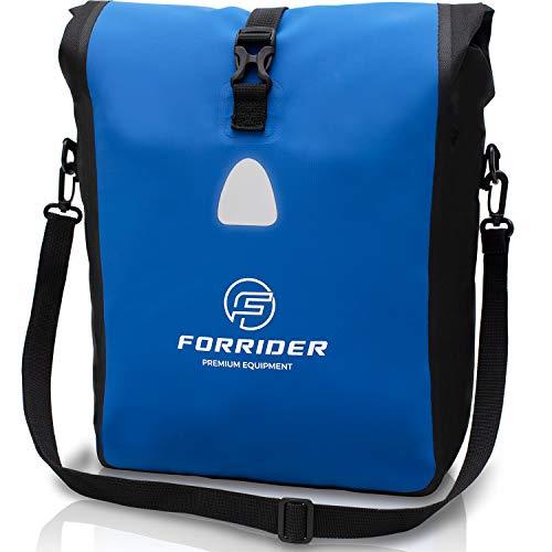 Forrider Fahrradtasche Wasserdicht für Gepäckträger [25L Volumen] mit Schultergurt   Gepäckträgertasche Fahrrad EINZELTASCHE Packtasche hält an jedem Gepäckträger