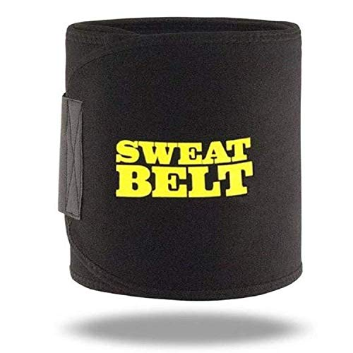 Quims Sweat Waist Trimmer Fat Burner Belly Tummy Yoga Wrap Black Exercise Body Slimming Belt for Men...