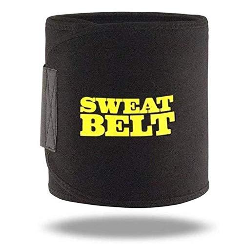 Quims Sweat Waist Trimmer Fat Burner Belly Tummy Yoga Wrap Black Exercise Body Slimming Belt for Men & Women