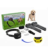 GPS Wireless Dog Fence System, Electric Pet Fence Containment System with Waterproof & Rechargeable Training Collar for Dogs & Cats Over 5 lb Outside Camping Yard (2021 Latest) (Yellow) (Yellow)