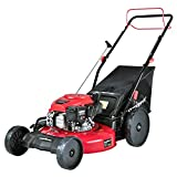 PowerSmart Lawn Mower, 22-inch & 170CC, Gas Powered Self-Propelled Lawn Mower with 4-Stroke Engine, 3-in-1 Gas Mower in Color Black, 5 Adjustable Heights (1.18''-3.0''), PSM9422SR