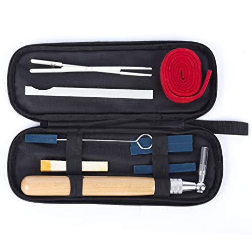 Piano Tuning Kit Professional Piano Tuner Kit 9 Pcs Including Tuning Wrench Hammer, Temperament Strip, Mute Kit