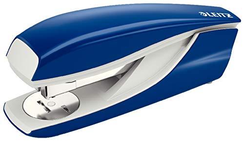 Leitz Cucitrice da Ufficio, Capacit fino a 40 Fogli, Blu, Design Ergonomico in Metallo, Include Punti, Cartone, Gamma NeXXt, 55220035