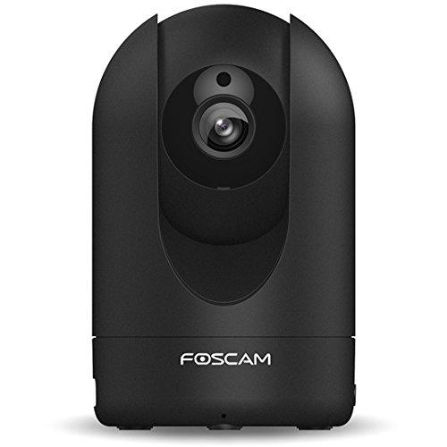 Foscam R2 (versione ITALIA) - Telecamera IP Wi-Fi Full HD 1080p (2.0 Megapixel), Motorizzata PTZ con Zoom 6x, Visione notturna 8m, Motion Detection, Mail Alert, microSD slot, ONVIF, Plug & Play, NERO