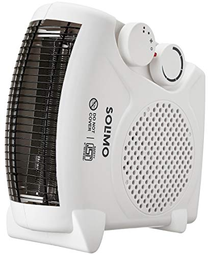 Amazon Brand - Solimo 2000-Watt Room Heater (ISI certified, White colour, Ideal for small to medium...