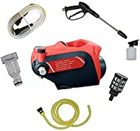BRAND NEW 2021 PRESSURE CONTROL MODEL, WATER PROOF: STARQ High Pressure Washer manufactured with 100% copper induction motor, powerful PCB and durable ABS plastic. This allow you to use the pressure washer for a long time. Powerful 2400-Watt inductio...