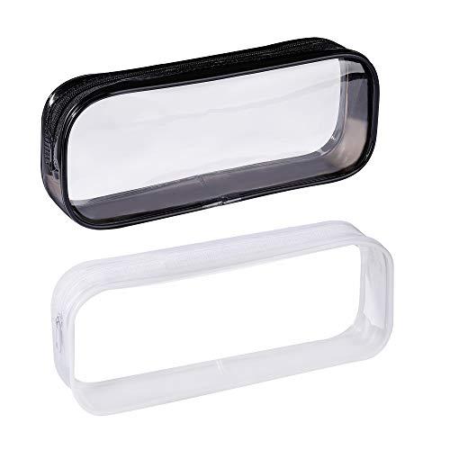 Astucci Portamatite Trasparente PVC Sacchetto di Matita Impermeabili Grande Capacit Cerniera Astucci per Forniture Ufficio Scolastico 2 Pezzi
