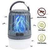 IREGRO Bug Zapper 2 en 1 Lampe Portable Tueur de Moustique LED Lanterne de...