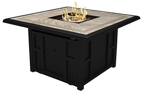 Ashley Furniture Signature Design - Chestnut Ridge Outdoor Square Fire Pit Table - Natural Porcelain Tile -...