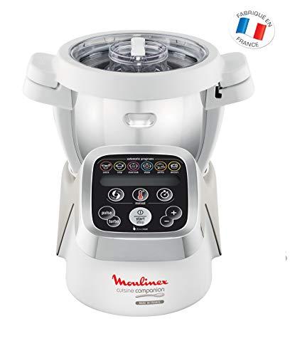Moulinex HF802AA1 Cuisine Companion Robot da Cucina Multifunzione con 6 Programmi Automatici, 1550...