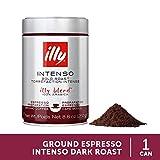 illy Intenso Ground Espresso Coffee, Dark Roast, 8.8 oz