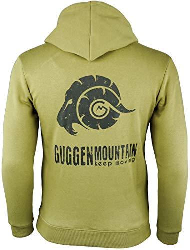 Guggen Mountain Felpa con Cappuccio da Uomo con Pile Hoodie Giacca Maglione Caldo Streetwear Maniche...