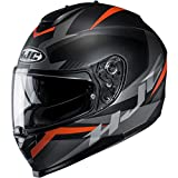 HJC C70 Helmet - Troky (X-Large) (Black/Orange)