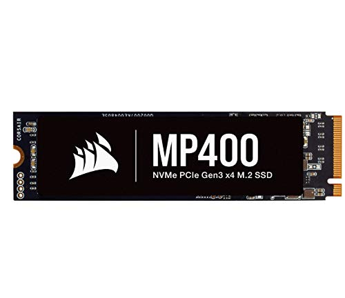 Corsair MP400 1TB Gen3 PCIe x4 NVMe M.2 SSD (Velocidades de Lectura Secuencial de hasta 3.400 MB/s y de Escritura Secuencial de 3.000 MB/s, 3D QLC NAND de Alta Densidad) Negro
