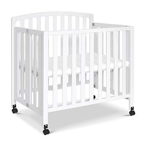 Product Image 1: DaVinci Dylan Folding Portable 3-in-1 Mini Crib and Twin Bed in White, Greenguard Gold Certified