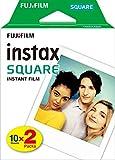 Fujifilm Instax Square Film Pellicola Istantanea, Formato Quadrato, 62x62 mm, ISO 800, Confezione da 10x2 Foto, Bordo Bianco