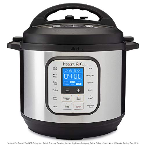 Instant Pot Duo Nova 7-in-1 Electric Pressure Cooker, Slow Cooker, Rice Cooker, Steamer, Saute, Yogurt Maker, and Warmer, 8 Quart, Easy-Seal Lid, 14 One-Touch Programs