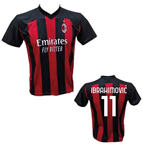 DND Di D'Andolfo Ciro Maglia Calcio Zlatan Ibrahimovic 11 Milan Replica autorizzata 2020-2021 Taglie da Bambino e Adulto (S (Adulto))