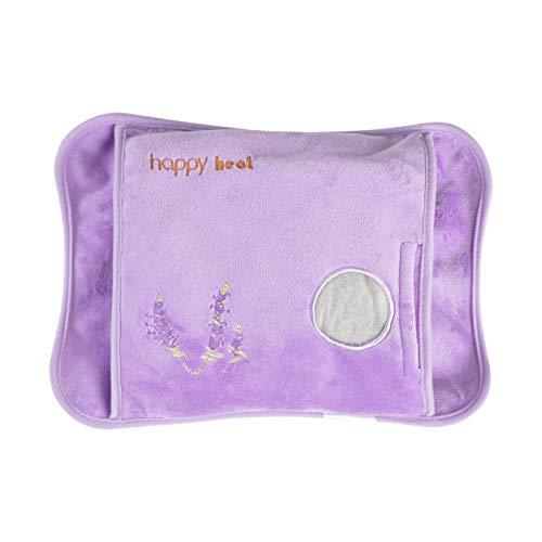Happy Heat Heating Pad Hands, Electric Water Bag, Arthritis Hand Warmer, Auto-Shut Off- Lavender